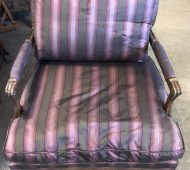 BTV striped chair