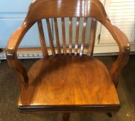BTV Antique Solid Wood Office Chair