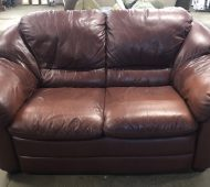 BTV leather couch