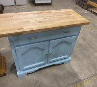 Will blue kitchen island