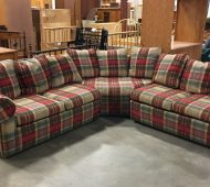 Will plaid sectional