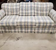 W plaid couch